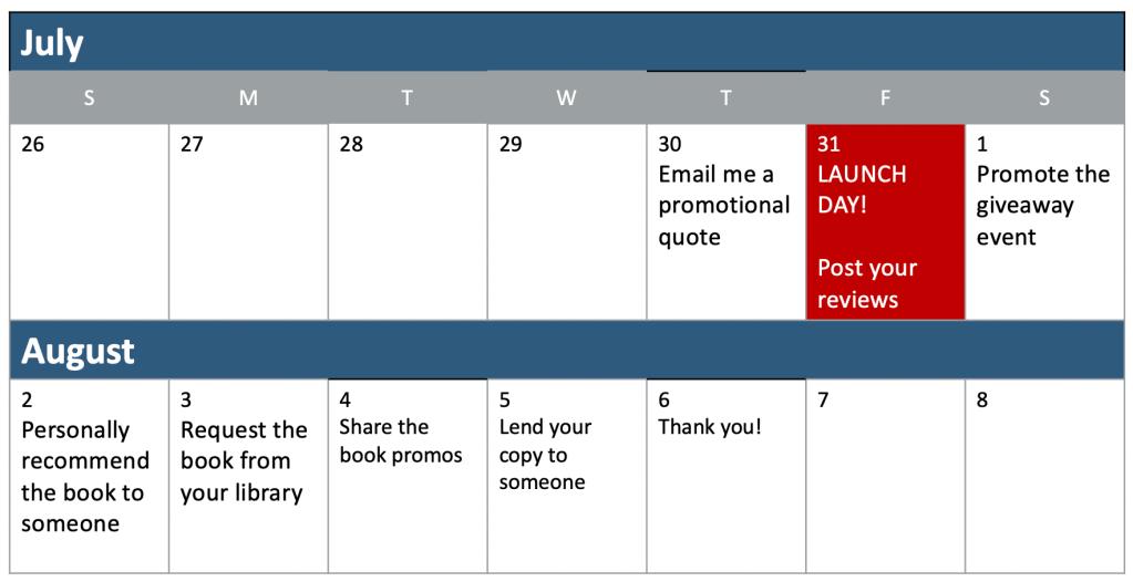 Calendar summary of events